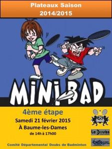 AFFICHE Minibad - ASCAP le 11 avril