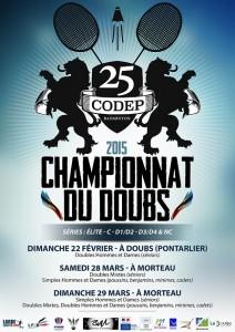 Affiche Championnat CODEP25 - 2015 - petit format