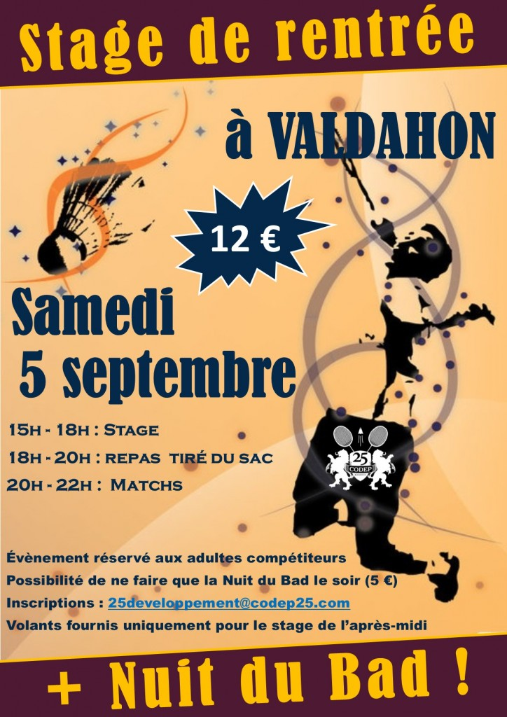 affiche stage adulte