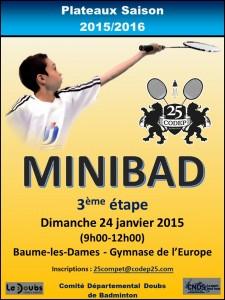 AFFICHE Minibad 3 - 2015-2016