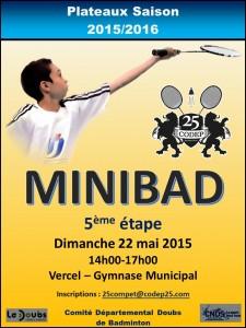 AFFICHE Minibad 5 - 2015-2016