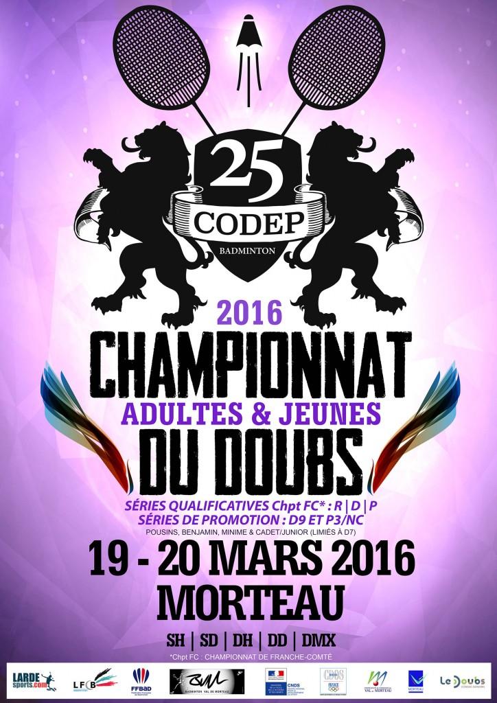 Petite Affiche Championnat CODEP25 - 2016-2